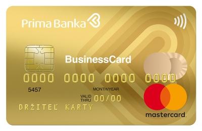 Platobná karta MasterCard Gold